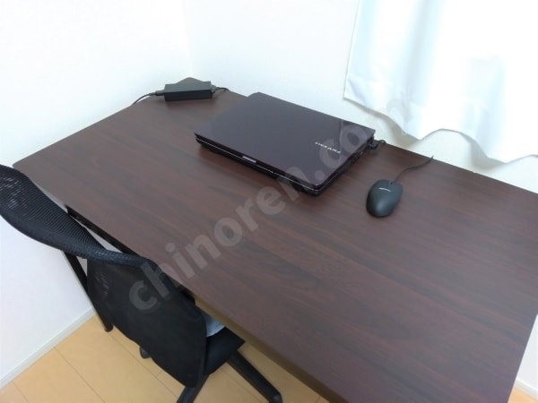 PCを置いた机