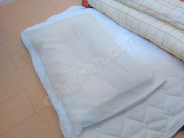 オフトンワイドと枕