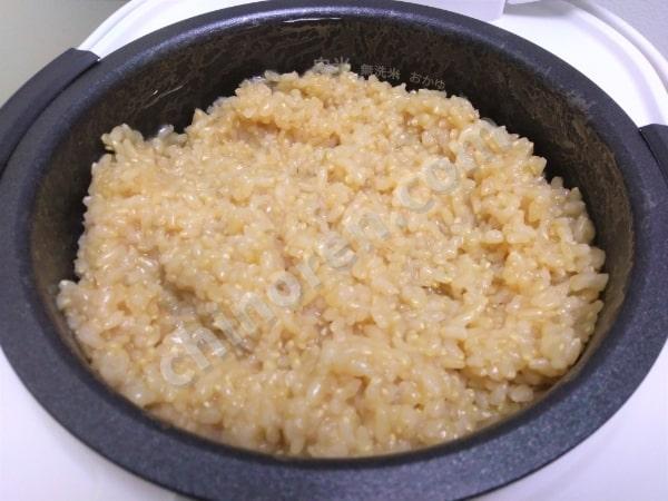 ならした玄米